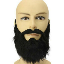 Costume Party Male Man Halloween Beard Facial Hair Disguise Game Black Mustache0