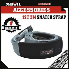 X-BULL 80mm x 3M 12T Snatch Strap Winch Extension 12TON 4WD Recovery Tow Strap