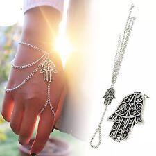 Fashion Jewellery Plata Pulsera Con Detalle De Cadena De Mano Mandela