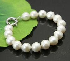 very charming 11-12mm white akoya Natural pearl bracelet 7.5-8""