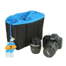 Shockproof Padded Foldable Camera Bag Blue Universal Soft Compact Digital Camera