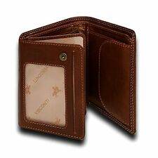 Visconti DRW27 ID Trifold Leather Mens Wallet Pass-case Card Holder Coin Purse