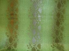 upholstery leather faux vinyl Fake Snake Scale Viper Green Embossed pattern