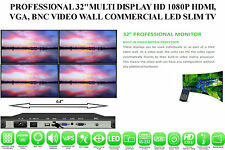 "PROFESSIONAL 32""MULTI DISPLAY HD 1080P HDMI,VGA,BNC VIDEO WALL LED SLIM TV"