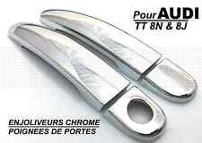 AUDI TT 8N 1998-2006 CHROME EXTERIOR SIDE DOOR HANDLE COVERS QUATTRO SLINE S TTS
