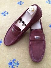 Gucci Mens Shoes Brown Suede Loafers Drivers UK 8 US 9 EU 42 Made in Italy