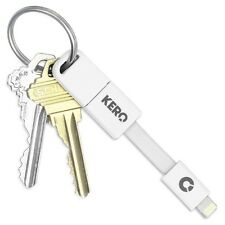 "Kero Nomad 3"" Lightning to USB Sync Keyring Cable iPhone Apple Certified WHITE"