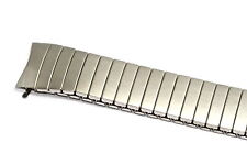 18mm Silver Twist O Flex Expansion Watch Band Strap Fits Easy Reader Curved Ends