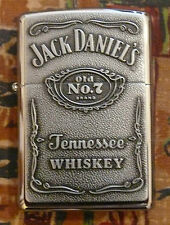 JACK DANIELS PEWTER LABEL ZIPPO LIGHTER FREE P&P FREE FLINTS
