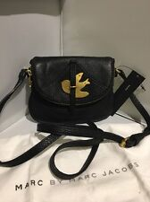 NWT MARC by MARC JACOBS Petal to the Metal Bird Crossbody Flap bag BLACK GOLD