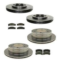 88-95 Pathfinder Complete Set of Front & Rear Disc Brake Rotors & Brake Pads