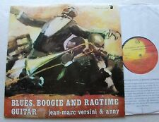 Jean Marc VERSINI & ANNY Blues, boogie... FRENCH guitar jazz LP PRIVATE NMint