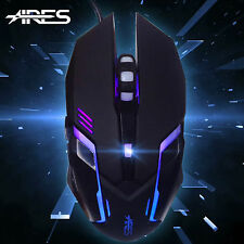 2400DPI USB Wired Game Gaming CS Wired Mouse for PC Laptop Changeable LED Color