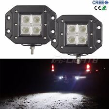 2X 20W Cree LED Work Light Flood Offroad Driving Car Fog ATV Flush Mount UTE 4WD