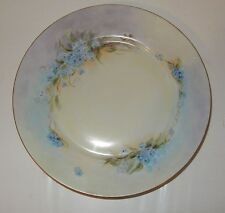 Antique / Vintage Hand Painted Victoria Austria Floral Dinner Plate