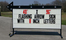 NEW LARGE ROADSIDE BUSINESS SIGN FLASHING ARROW LIGHTED MESSAGE BOARD 40X96