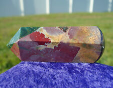 Wild BLOODSTONE Agate One of A Kind Crystal Healing Massage Wand Point India Gem