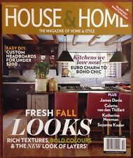House & Home Fresh Fall Looks Kitchen Easy DIY Oct 2014 FREE SHIPPING!