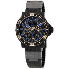 Ulysse Nardin Maxi Marine Diver Black Seal Automatic Mens Watch