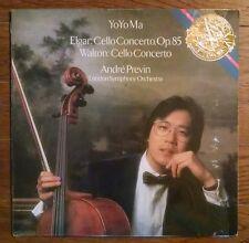 YO-YO MA Elgar Walton Cello Concerto Classical LP CBS Masterwork NM PROMO insert