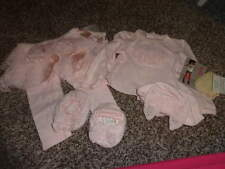 BOUTIQUE BISCOTTI BABY 9M 9 MONTHS PINK TOP PANTS HAT SHOE LOT