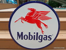 LARGE MOBILGAS SIGN,MOBIL GAS STATION ADVERTISING PEGASUS LOGO VINTAGE SIGNS
