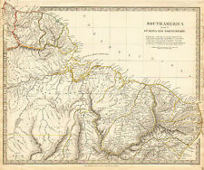 1836 SDUK Map of N BRAZIL & GUAYANA - Hand Colored, Mouth of the Amazon