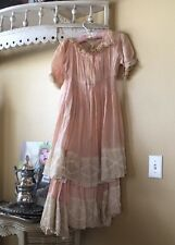 antique Edwardian Victorian Tiered lace dress