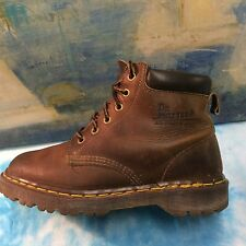 Dr. Martens AirWair Womens Classic Ankle Boots Shoes BROWN UK6/USL8/USM7