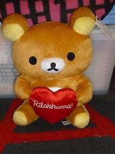 "RILAKKUMA - Holding Heart plush - UFO CATCHER - Crane Game - 16"" San-X"