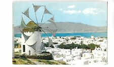 BF16469 mykonos typical picture wind mill moulen a vent greece front/back image