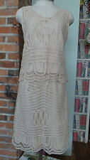 Vintage Ivory Lace Skirt and Sleeveless Top by Willi Smith Size 4