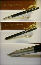 Stilografica Cocodrile Black Nishaeyu Fountain Pen - Stylo Nib cover-crown siz F