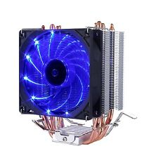 Premium Quiet CPU Cooler 4 Direct Contact Heat Pipes 92mm Blue LED Fan Intel AMD