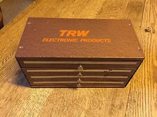 "VINTAGE HEAVY DUTY 4 DRAWER STEEL ""TRW ELECTRONIC PRODUCTS"" PARTS BOX"