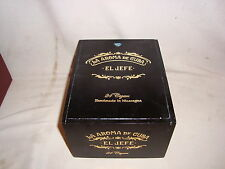 "LA AROMA DE CUBA ""EL JEFE"" SLIDE TOP  WOOD CIGAR BOX"