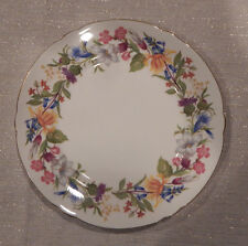 """SHELLEY """"SPRING BOUQUET"""" PATTERN SALAD PLATE (S) 8"""" MADE IN ENGLAND"""