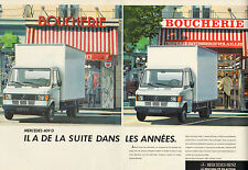Publicité Advertising 1987  ( Double page )  MERCEDES 409 D