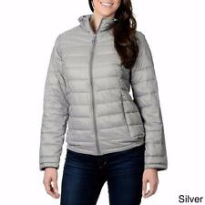NUAGE SPORT® XL Silver Quilted Faux Down Hooded Jacket *NWT*
