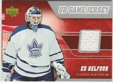 2006-07 Upper Deck Ed Belfour #J-EB Hockey Card UD Game Jersey