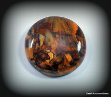 Pietersite cabochon 39.95ct round 27mm/pietersit cabochon 39.95ct 27mm Namibia