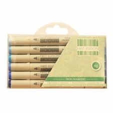 First Edition Twin Tip Marker Alcohol Longlife Craft Pens 6pk Set - Blues