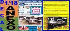ANEXO DECAL 1/18 FORD ESCORT RS 1800 MK II ROTHMANS ARI VATANEN R.PORTUGAL (02)