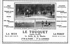 LE TOUQUET PARIS-PLAGE GOLF DRAGS PUBLICITE 1927
