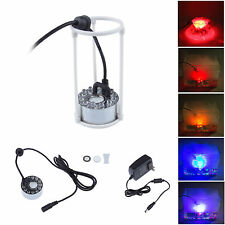 12LED Fountain Mist Maker Light Mister Pond Foggers Color Changing Aquarium New