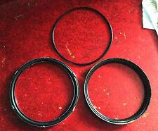 MG MIDGET speedo or tacho glass seals (glass/bezel & rim). Chrome bumper cars.