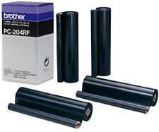 4 New Genuine Brother PC-204RF Original Black Thermal Transfer Ribbon PC204RF