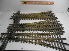 Spur 0 - Weichen Konvolut - 5 Stück - handbetriebene Weichen - Messing Holz