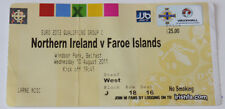 Ticket for collectors EURO q * Northern Ireland - Faroe Islands 2011 in Belfast