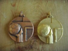Usado - DOS MEDALLAS BALONMANO de metal oro y bronce - Item for collectors -